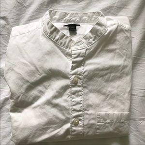 J. Crew Secret Wash Band-Collar Shirt